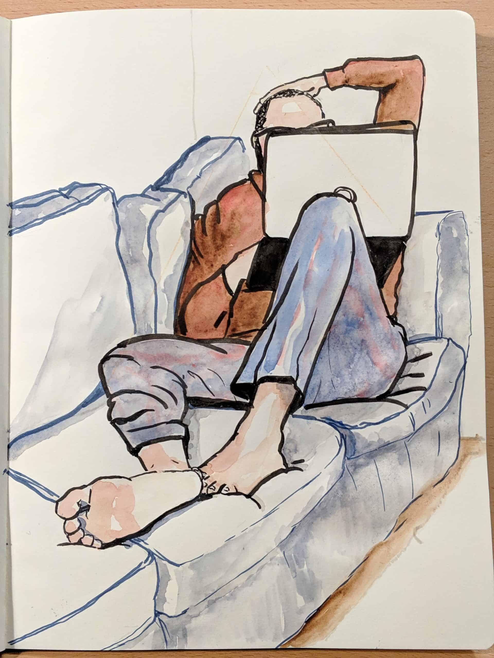 Irenka Pareto sketch book