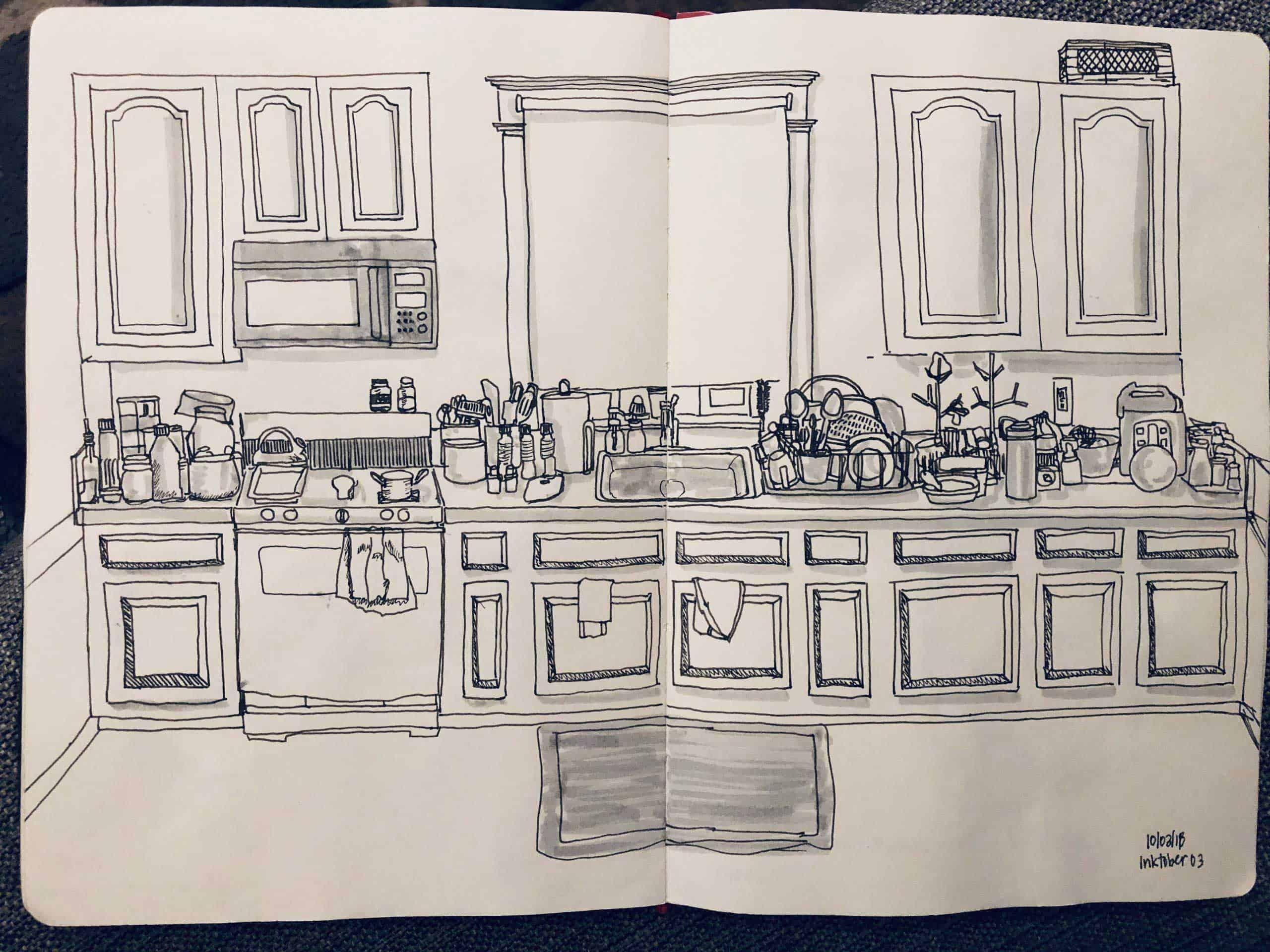 Elaine Villasper sketch book