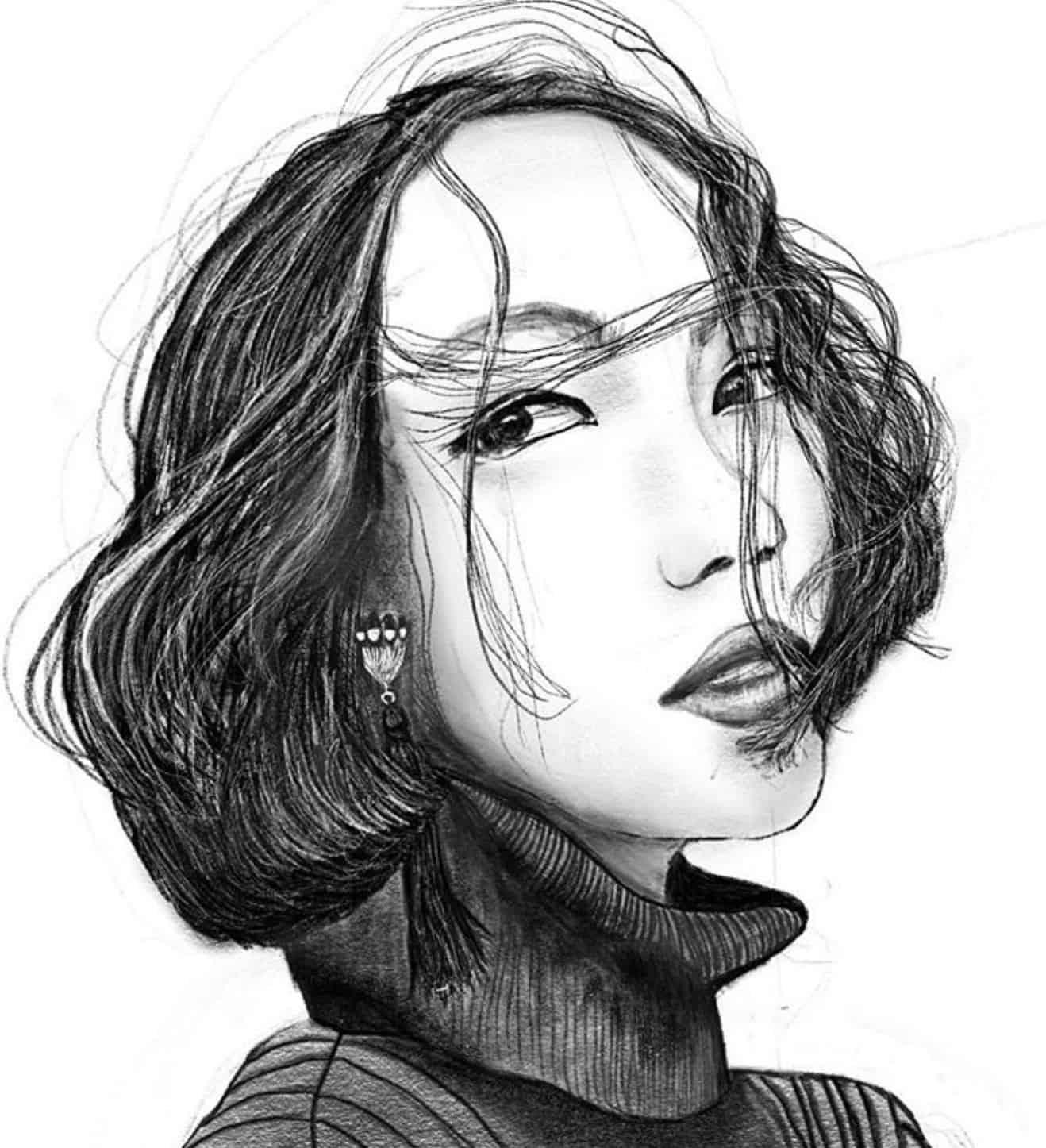 Rebecca Butler portrait sketch