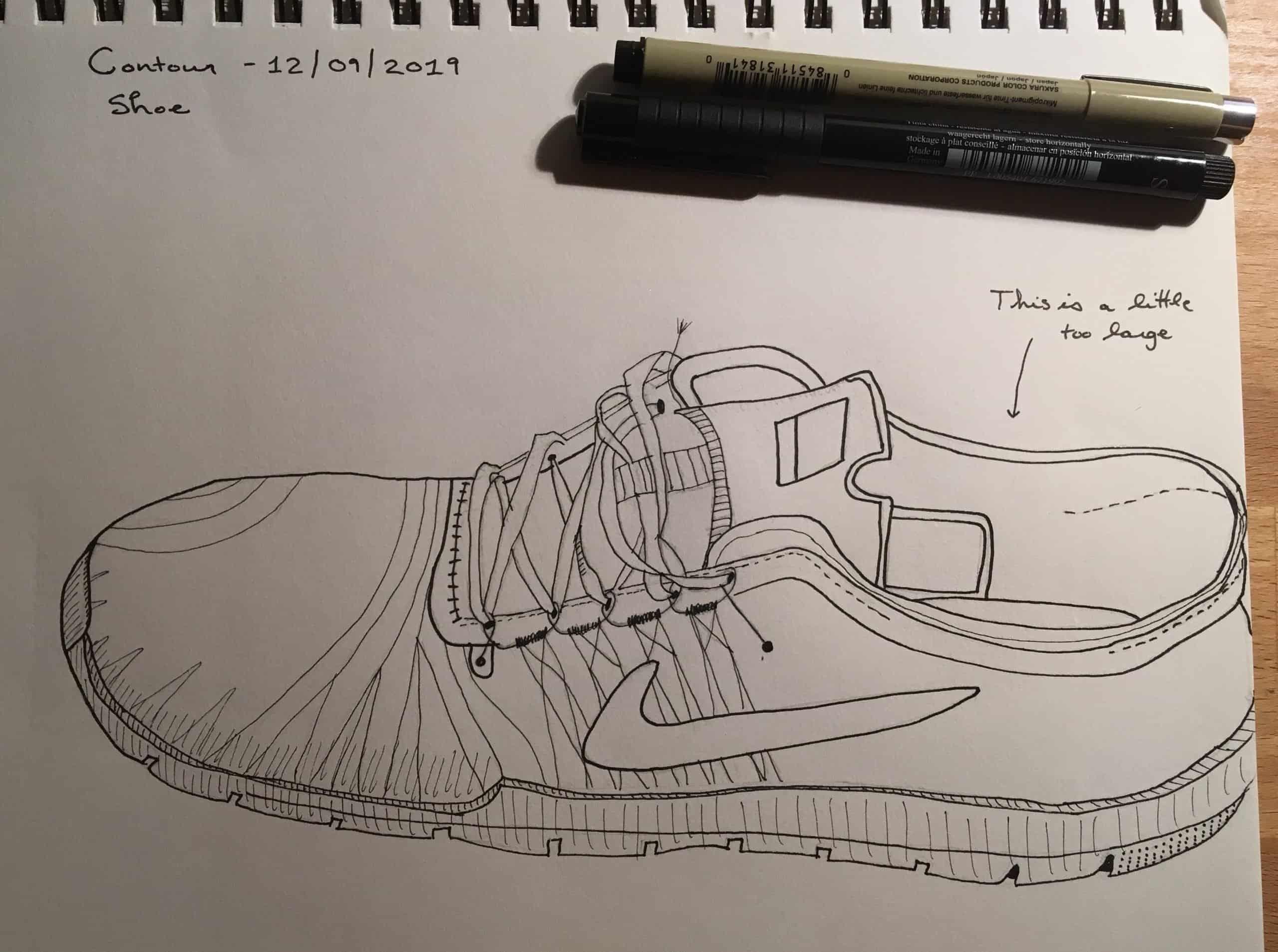 Melanie Mercuri shoe drawing