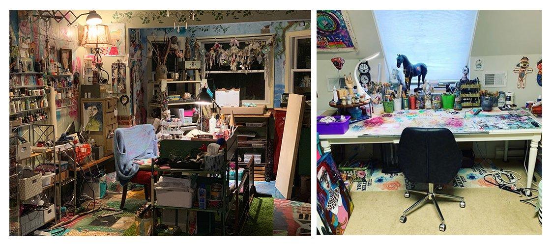 Kecia Deveney art office
