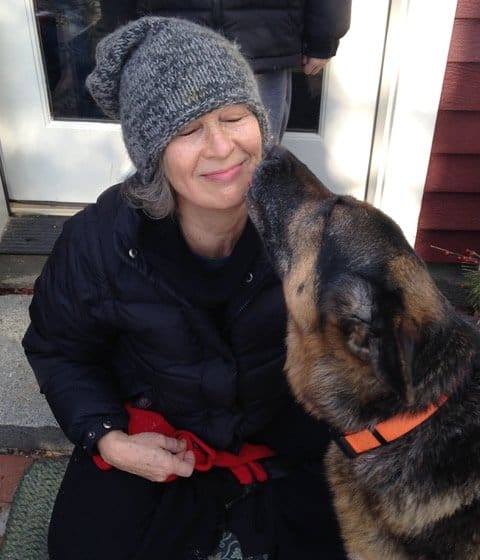 jill weber with her dog