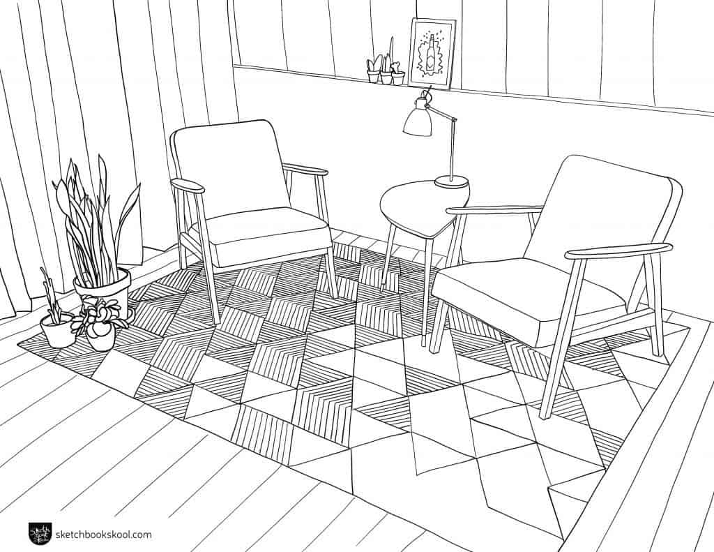 coloring page sketch