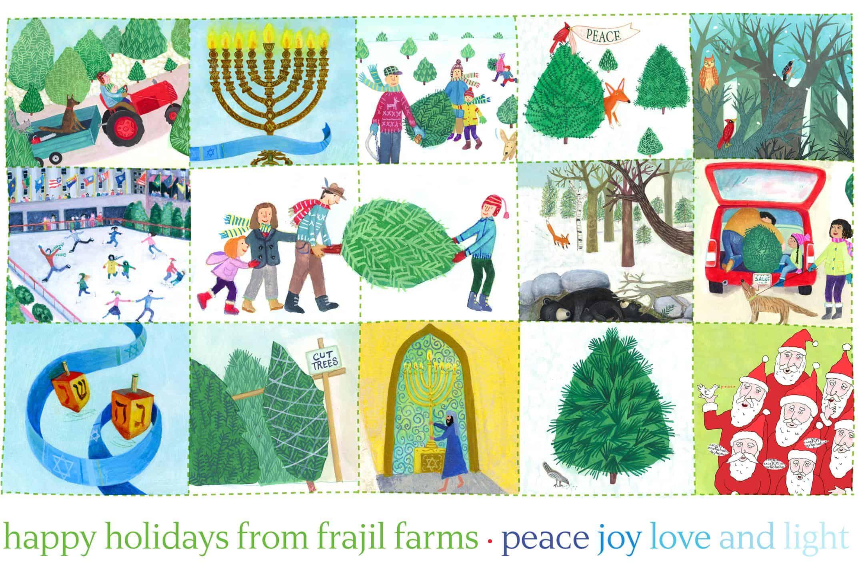 happy holidays sketch