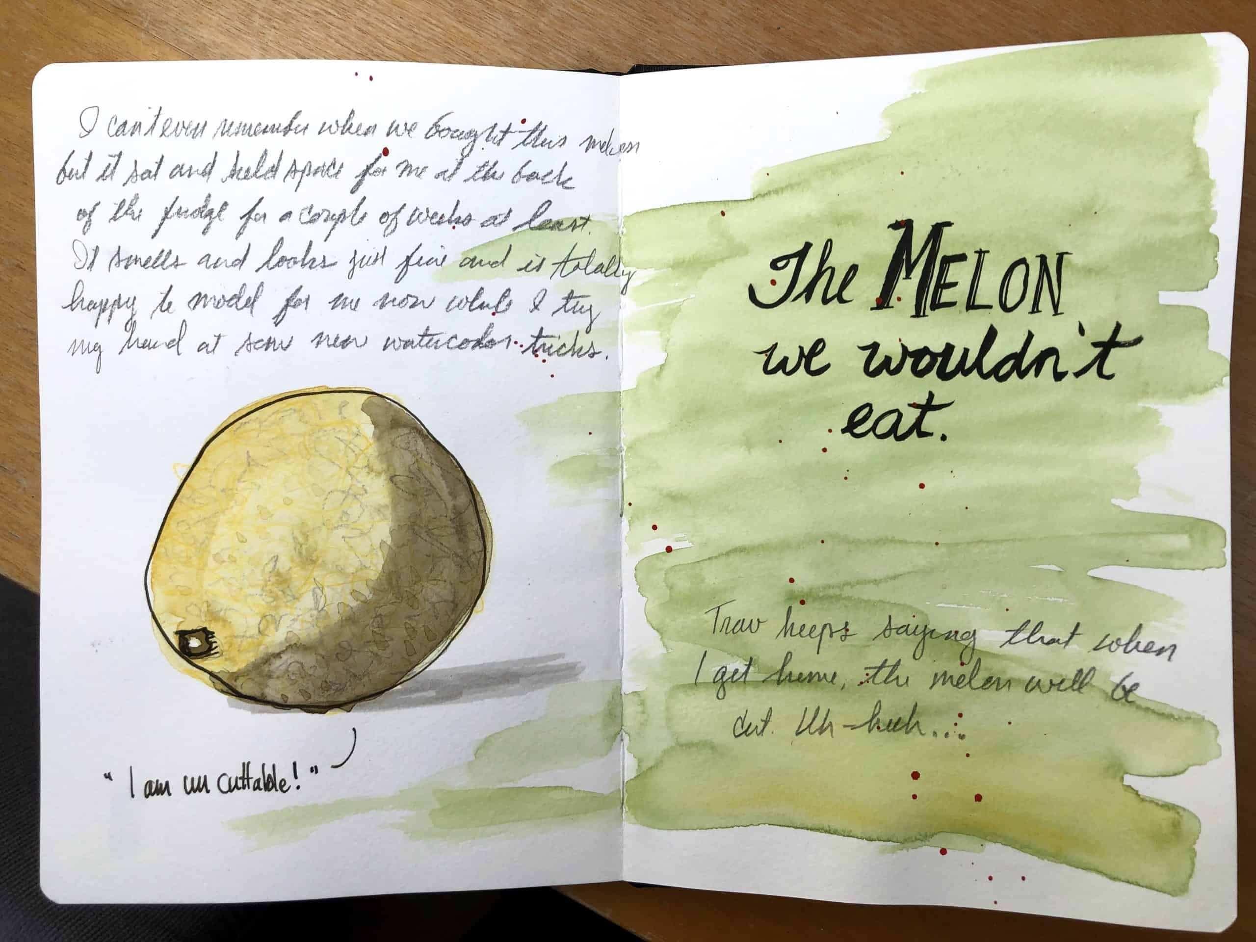 Schmoo Theune the melon we wouldn't eat sketch