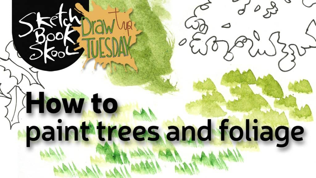 how to pain trees and foliage