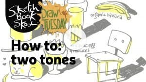 how to draw with only two tones