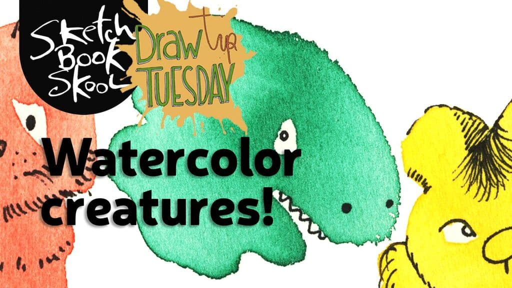 creating watercolor creatures