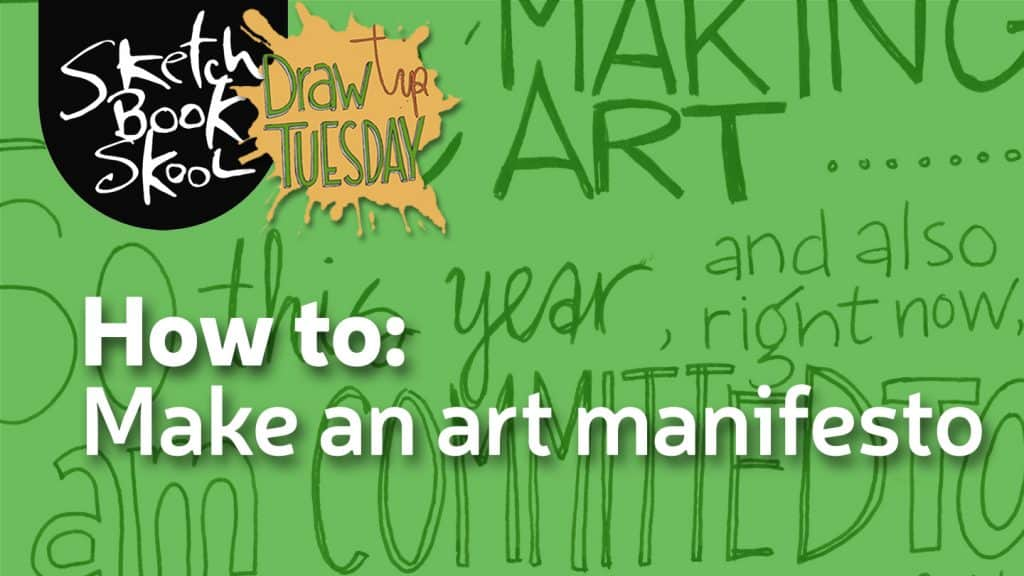 how to write an art mnifesto