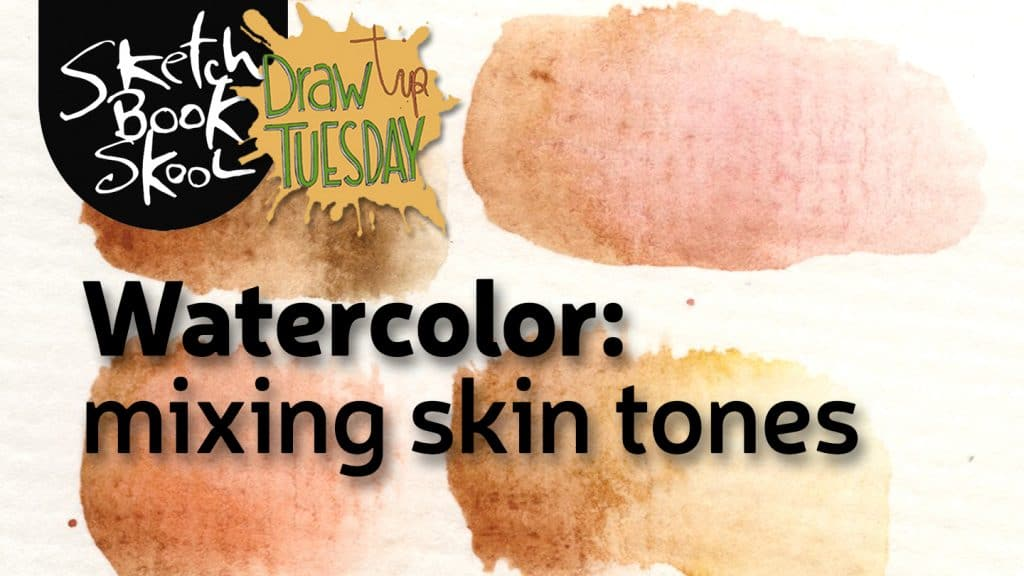 watercolor skin tone mixing