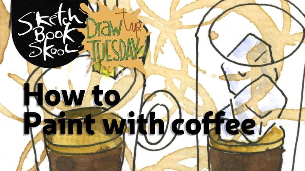 how to paint with coffee