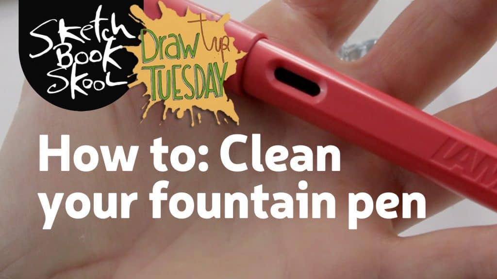 how to clean a fountain pen banner