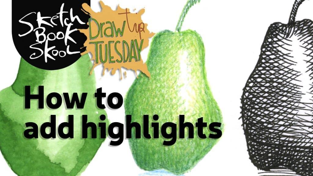 how to add hightlights sketch