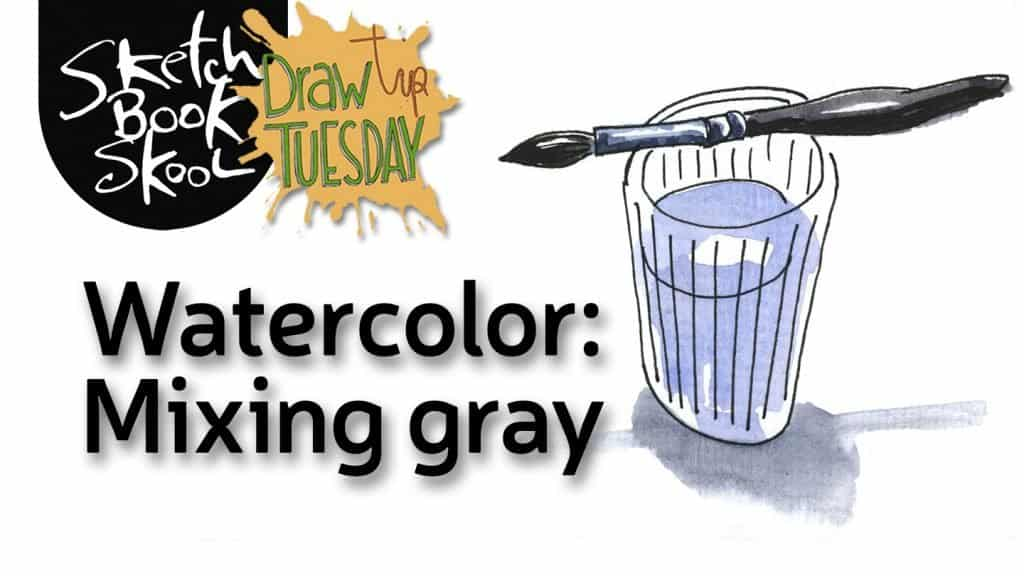 how to mix gray watercolor