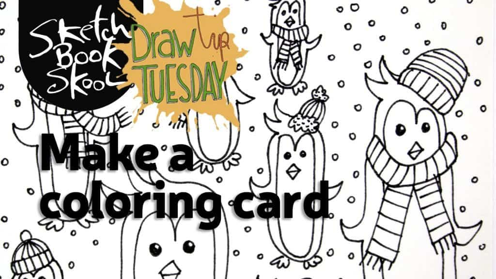 making a winter greeting card