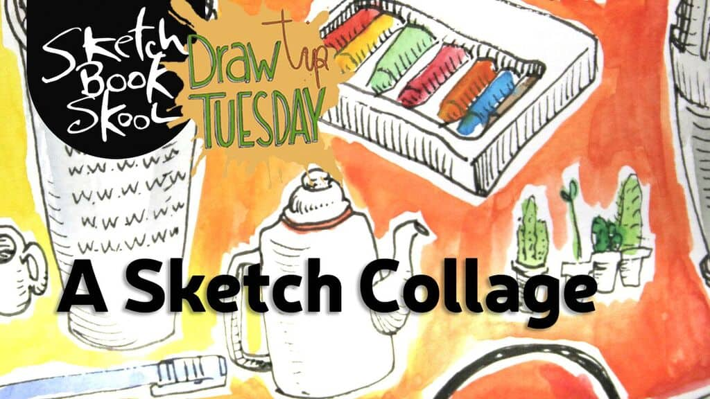 how to make a sketch collage