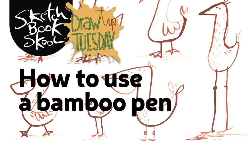 how to use a bamboo pen