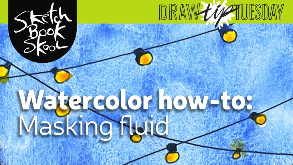 how to use masking fluid in watercolor painting