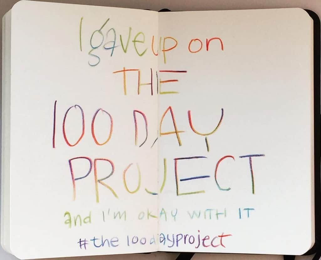 quitting 100 day project