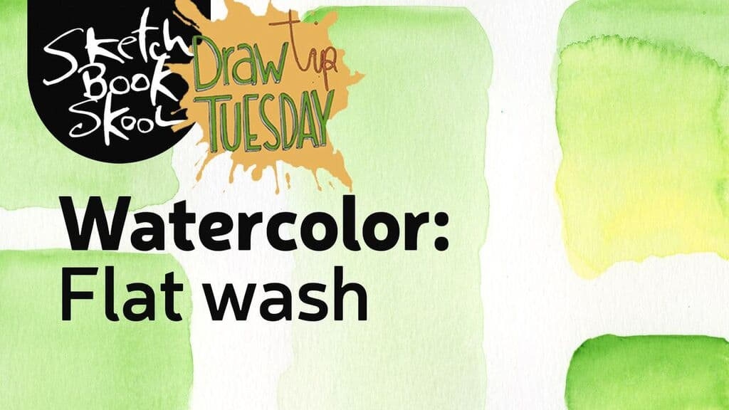 watercolor flat wash