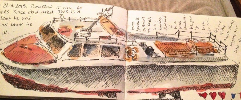 Louise Fletcher sketch work