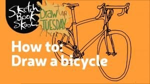 how to draw a bicycle banner