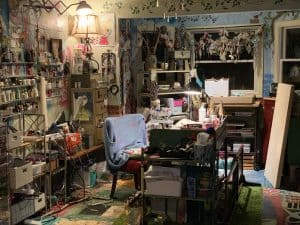 Kecia Deveney Art office