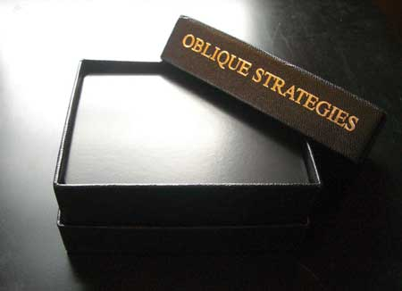 Taking Oblique Strategies to Your Sketchbook