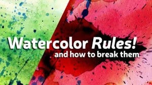 watercolor rules banner