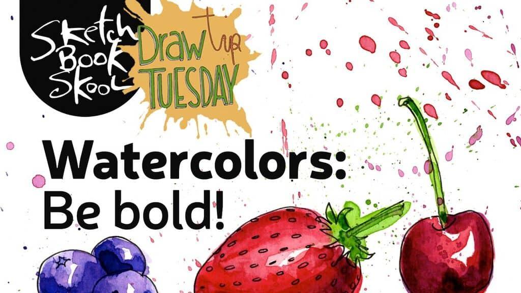 bold watercolor