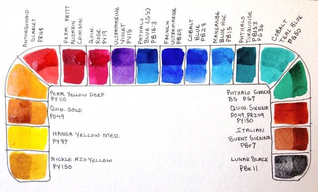 travel watercolor palette