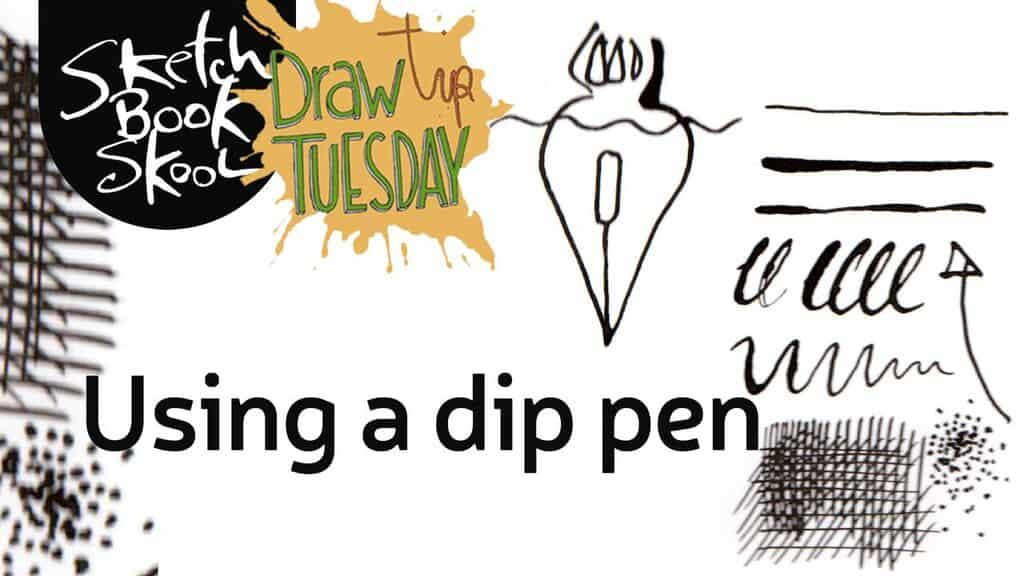 how to use a dip pen