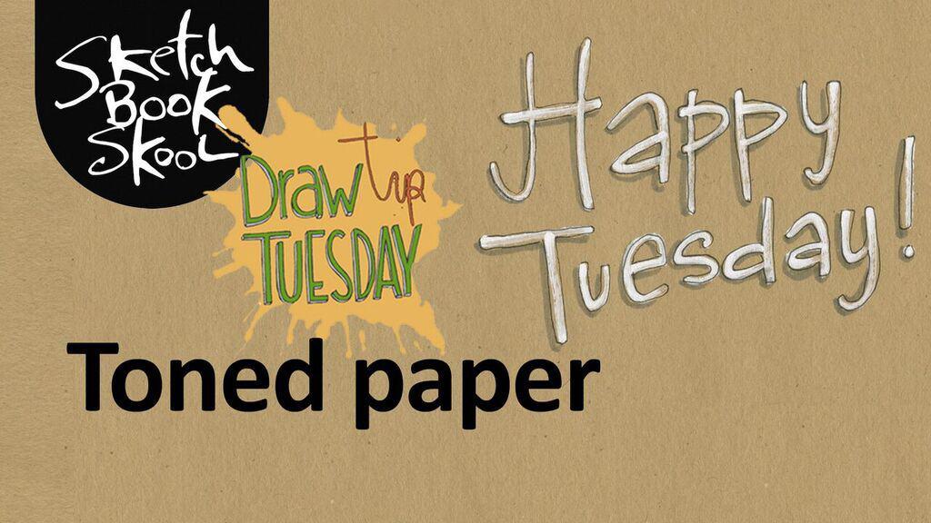 toned paper