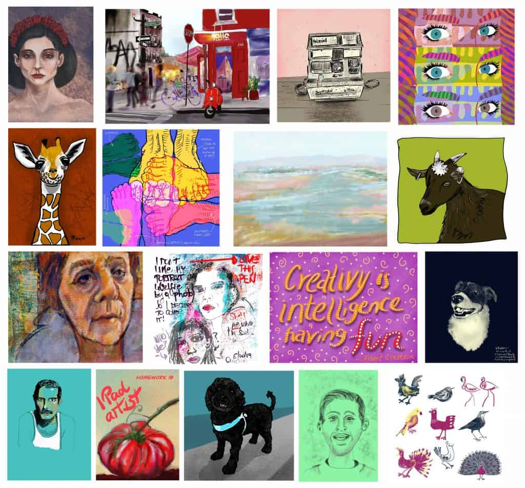 be an ipad artist student artwork