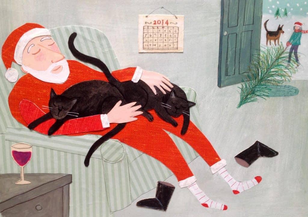 Jill Weber santa claus drawing