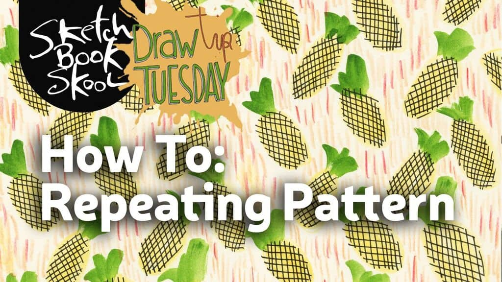how to draw repeating pattern