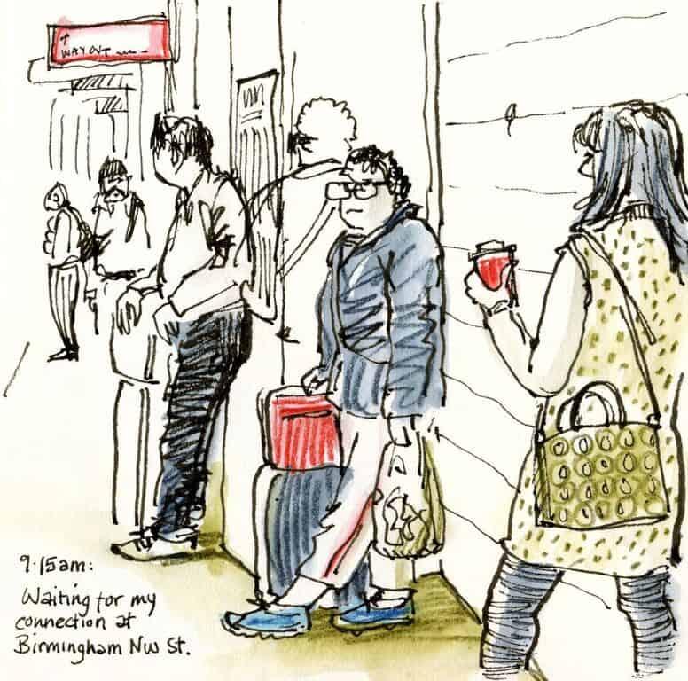 draw people in public