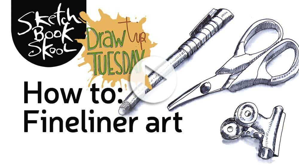 how to draw finliner art