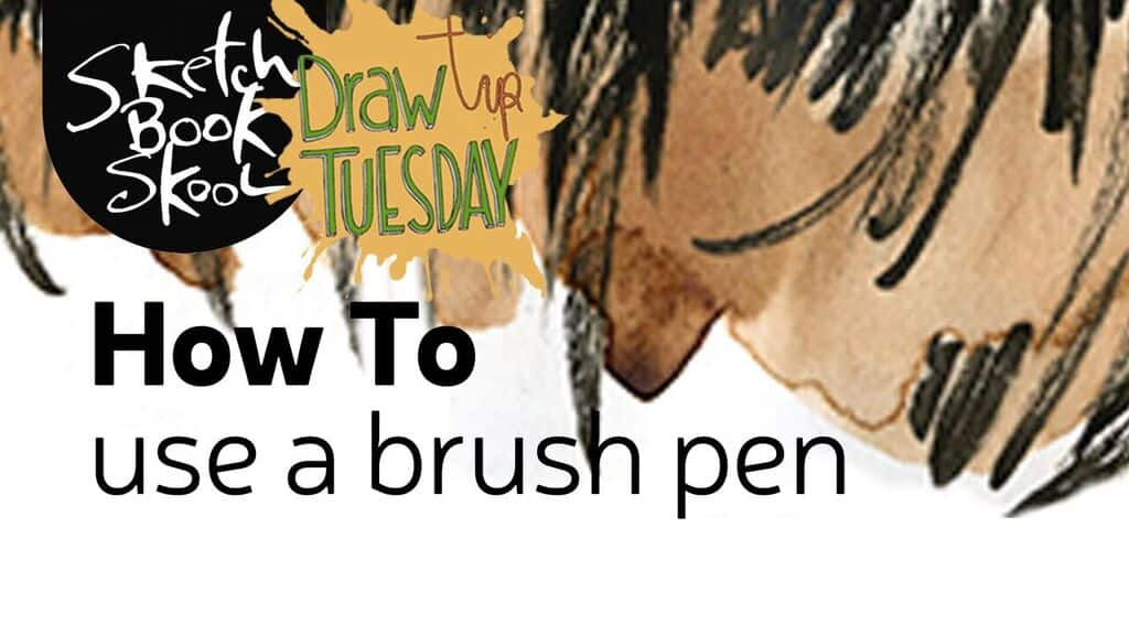 How to use a brush pen