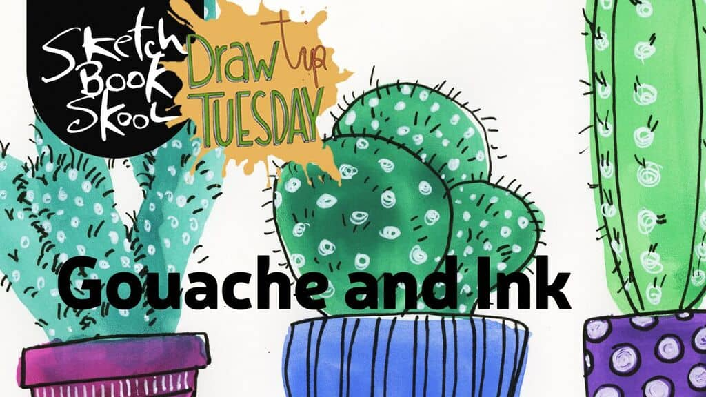 how to use gouache and ink