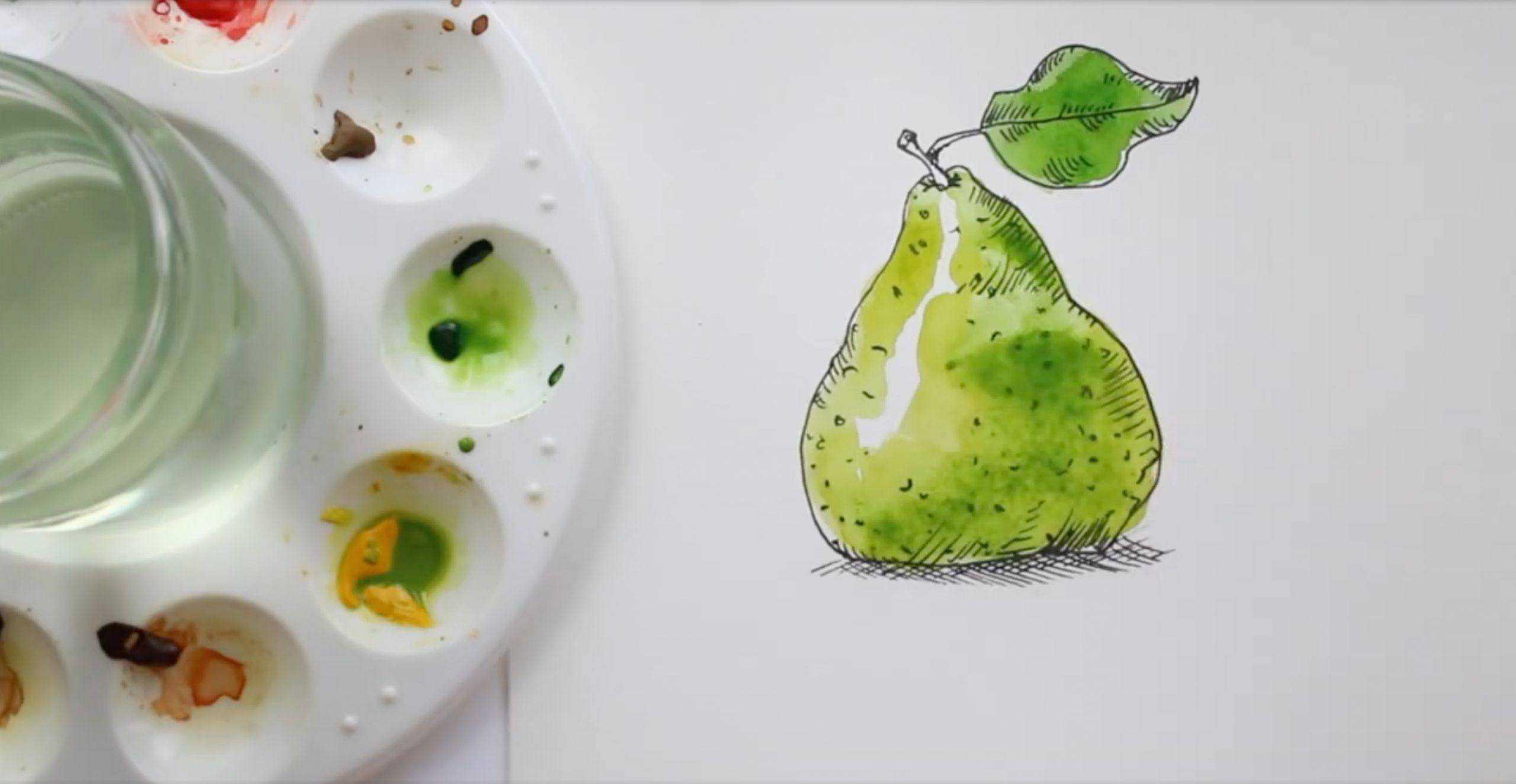 watercolor trick sketch