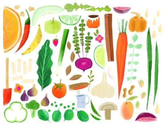 Salli Swindell food sketch