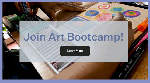 Join art bootcamp banner
