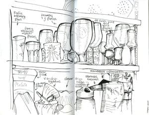 Fill your sketchbook with the contents of your cupboards