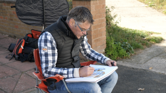 Drawing on location or from photo