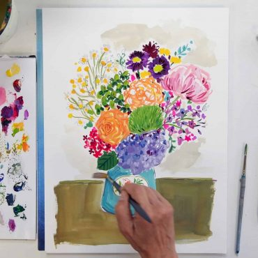 Painting a bouquet