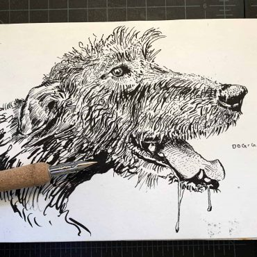dog yawn pen